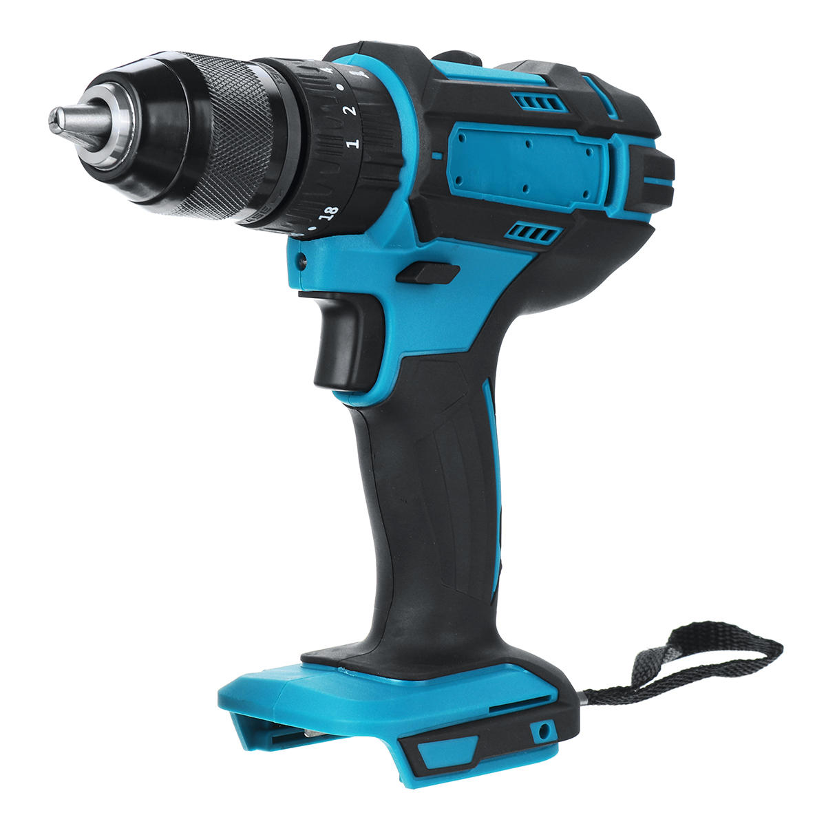 10mm Chuck Brushless Impact Drill 350N.m Cordless Electric Drill For Makita 18V Battery 4000RPM LED Light Power Drills - 1
