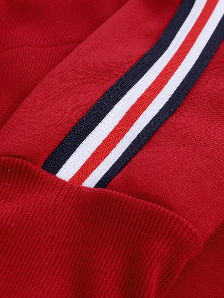 Men's New Casual Fashion Hooded Fashion Line Stitching Sweatshirt - 4