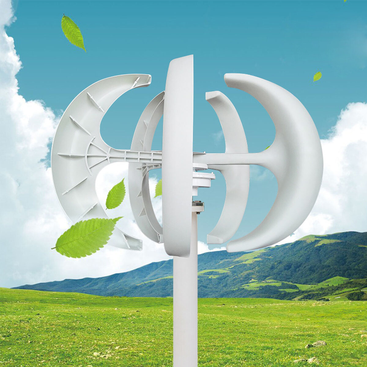 1000W/1200W/1500W DC 12/24V 5 Blades Wind Turbine Generator Vertical with Charge Controller