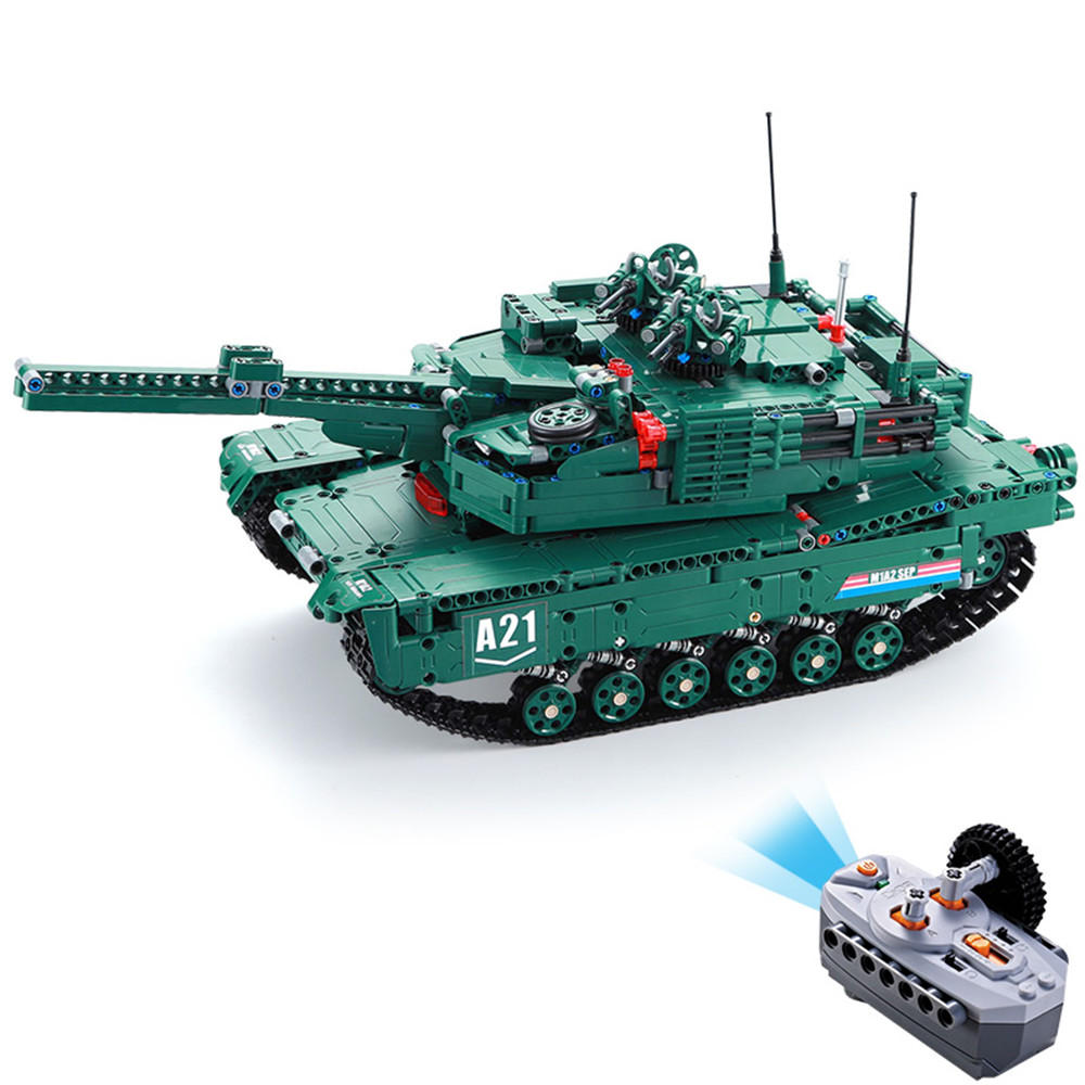 ToogLi 1/24 27MHZ 40CM US M1A2 RC Car Tank With Light Sound Military Vehicle Model Toys - 9