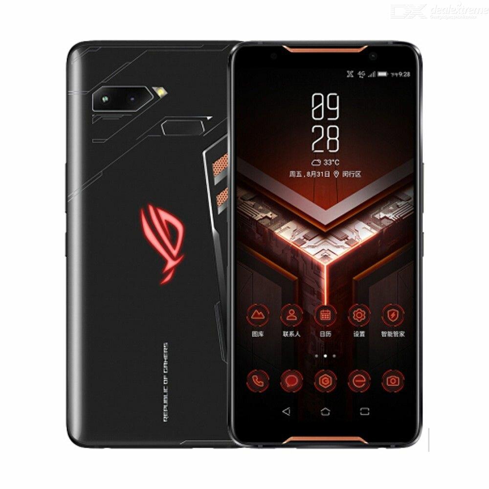 ASUS ROG Telefon ZS600KL 6,0 tommers FHD + IP68 vanntett NFC 4000mAh 12MP + 8MP dobbelt bakkamera 12GB RAM 512GB rom Snapdragon 845 Octa Core 2.96GHz 4G Gaming smart~~POS=TRUNC