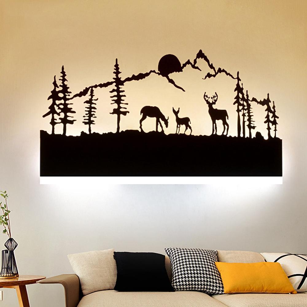 14W Nordic Art Modern Bedroom Bedside Light Wall Sconce Lamp Room Hotel AC175-265V