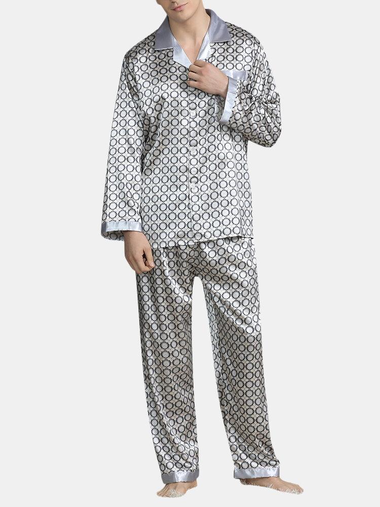 Men Solid Color Onesies Pajamas Viscose Breathable Jumpsuit - 6