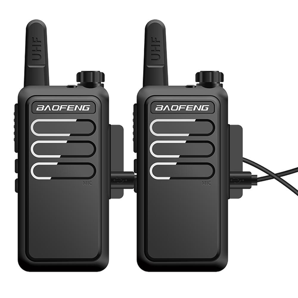 2PCS Baofeng BF-C9 Handheld Walkie Talkie 400-470MHz UHF Two Way Radio Ham Portable Communicator USB Charging