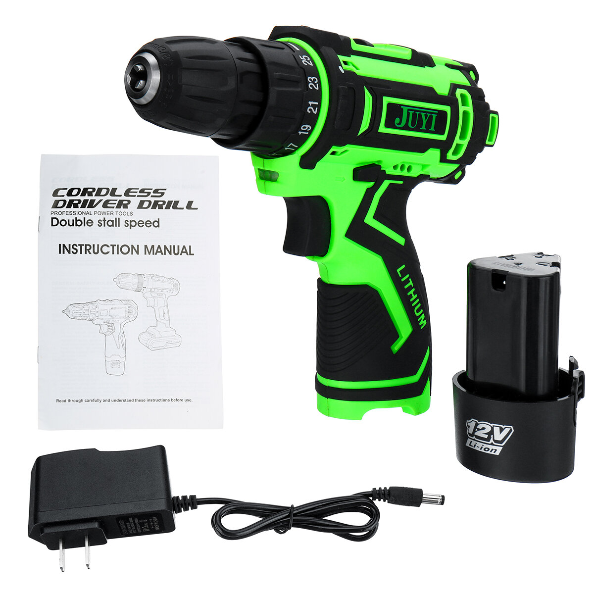 42VF Li-Ion Battery Cordless Rechargeable Electric Impact Drill Driver Screwdriver LED Light - 3
