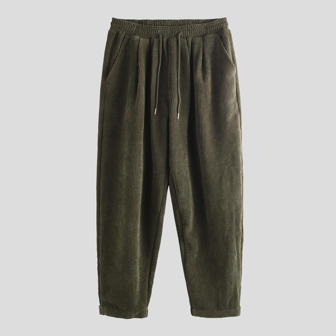 Mens Casual Drawstring Elastic Waist Cargo Pants - 12