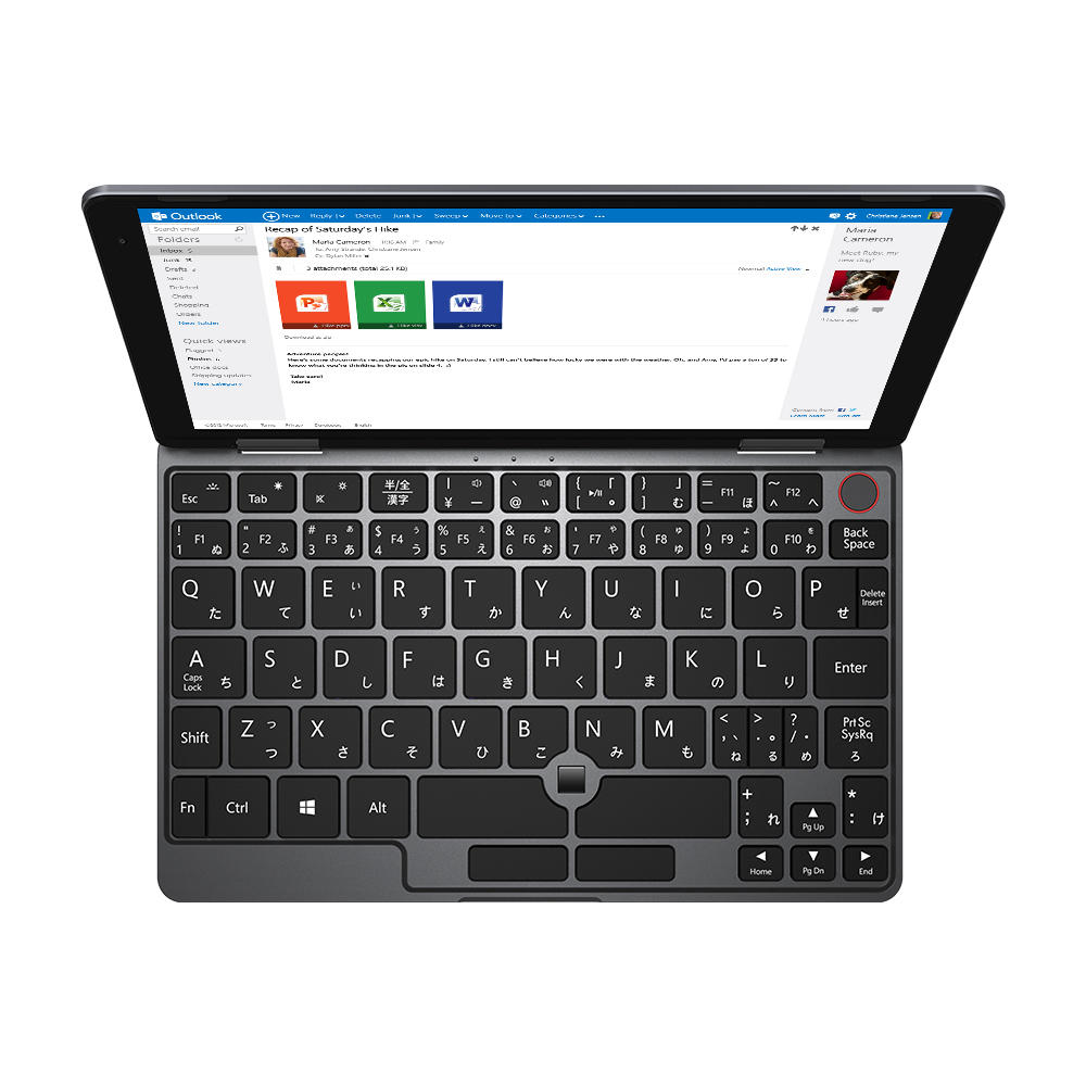 Versão original do Japão Caixa CHUWI MiniBook Intel Gemini Lake N4100 8 GB RAM 128 GB EMMC 128 GB SSD SSD de 8 polegadas Windows 10 Tablet
