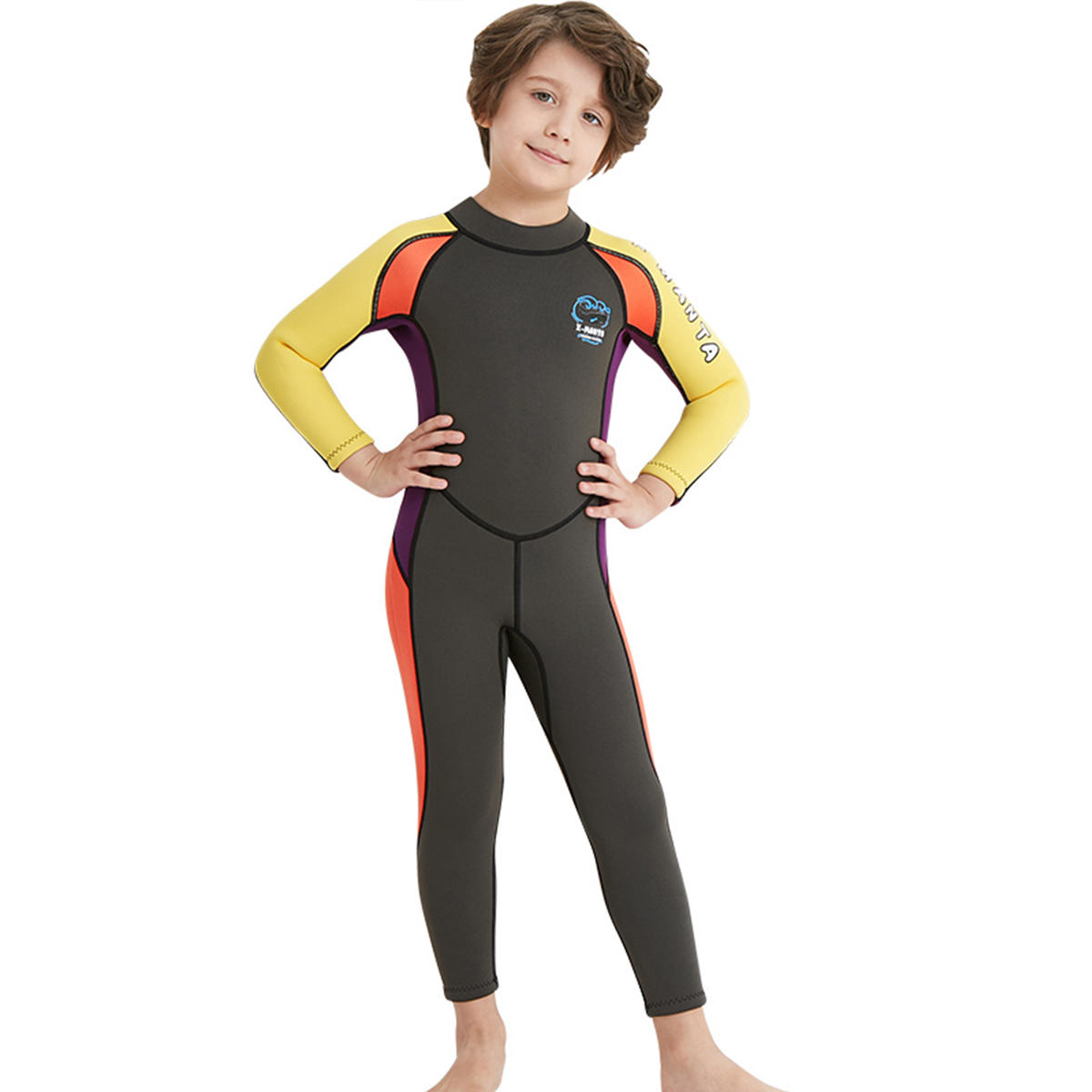 Kids Boy Scuba One-piece Diving Suit UV Protection Thermal Snorkeling Wetsuit Surfing Swimwear - 10