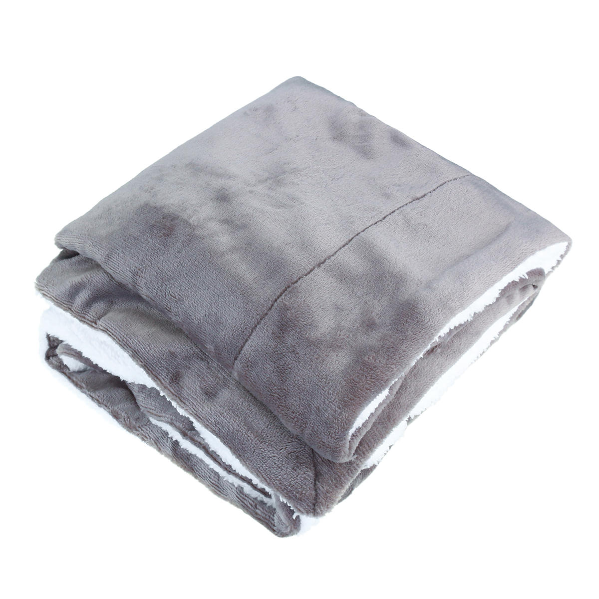 4 Colors Flannel Sherpa Throws Fleece Blankets Sofa Bedding Office Sleep Large Double King Soft Warm - 3