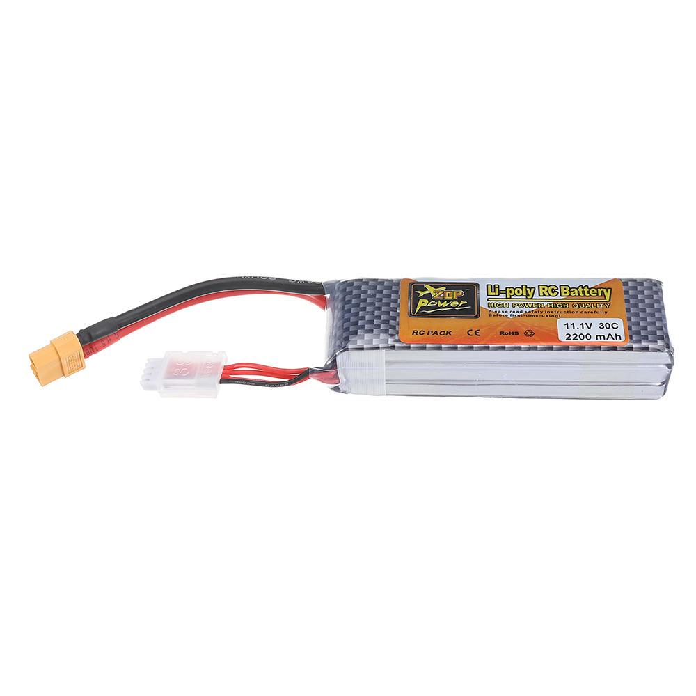 ZOP питания 11.1V 2200mAh 3S 30c Lipo батарея XT60 штекер - 7