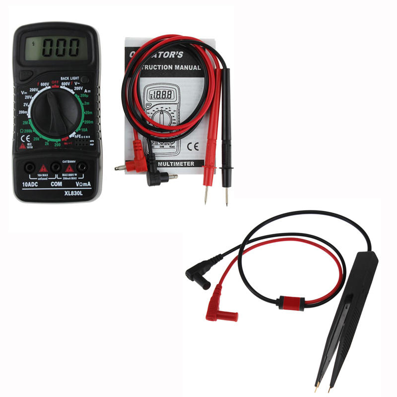 ANENG XL830L Digital LCD Multi Meters Volt Meterr Ammeter AC/DC/OHM Volt Current Tester+ANENG SMD Chip Component LCR Tes фото