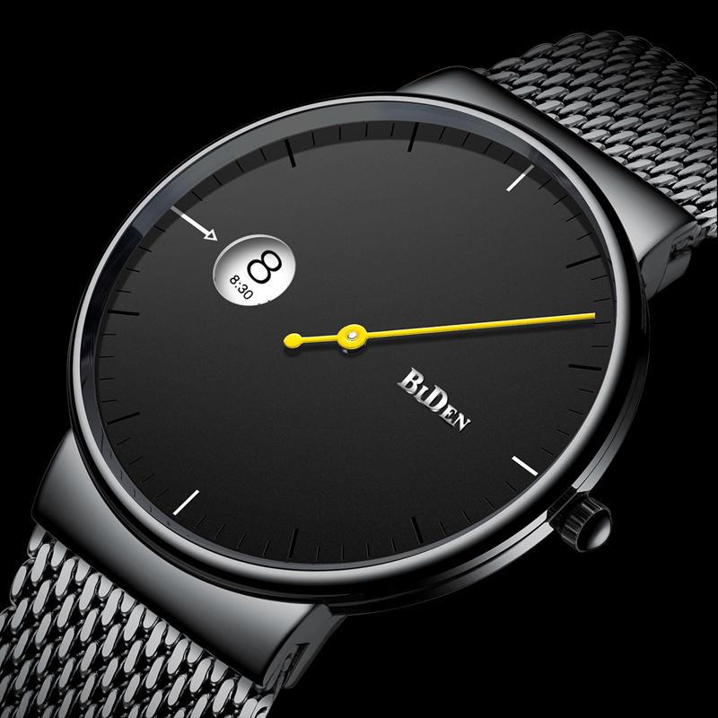 BIDEN 0049 Ultra Thin Fashionable Men Wrist Watch Creative Quartz Watches