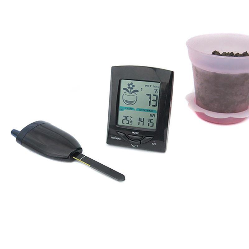 Wireless Garden Thermometer Hygrometer Flower Pot Detector Soil  Monitor Soil Temperature Moisture Meter