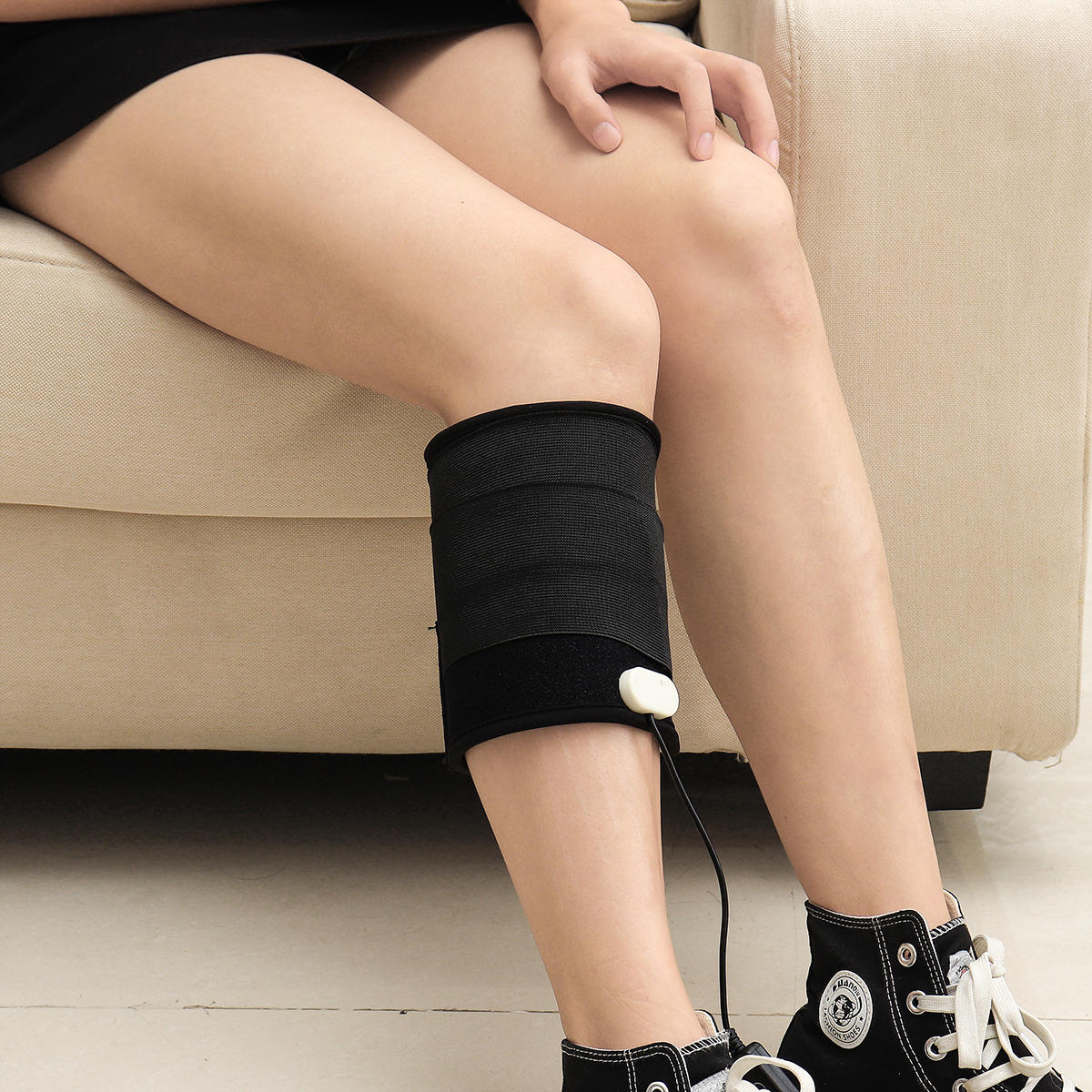 LED Light Therapy Leg Knee Support 5 Gear Dimming & 6 Gear Timing Muscle Pain Relief Belt