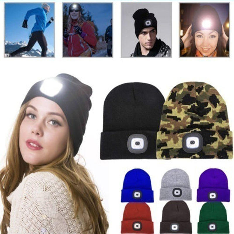 Rechargeable LED Light Beanie Hat Just $6.99!