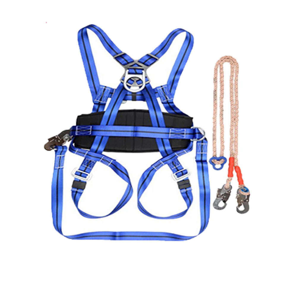 Outdoor Camping Climbing Safety Harness Seat Belt Blue Sitting Rock Climbing Rappelling Tool Rock Climbing Accessory фото