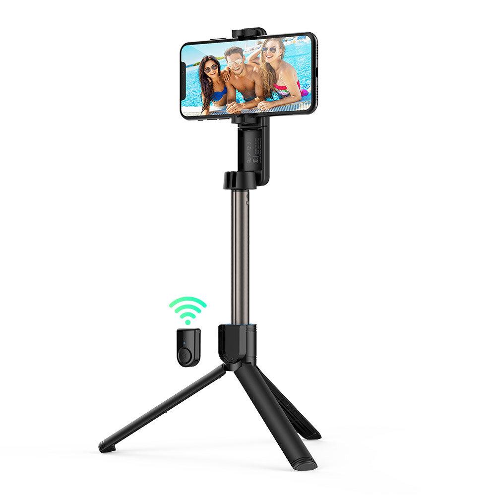 BlitzWolf® BW-BS2 bluetooth Selfie Stick Tripod Remote Control dengan Penjepit Telepon yang Dapat Diputar