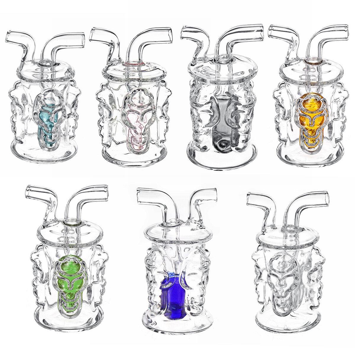 Novos Tubos de vidro H ookah Craft Mini Quatro lados de quatro crânios Crânio de vidro pequeno H ookah