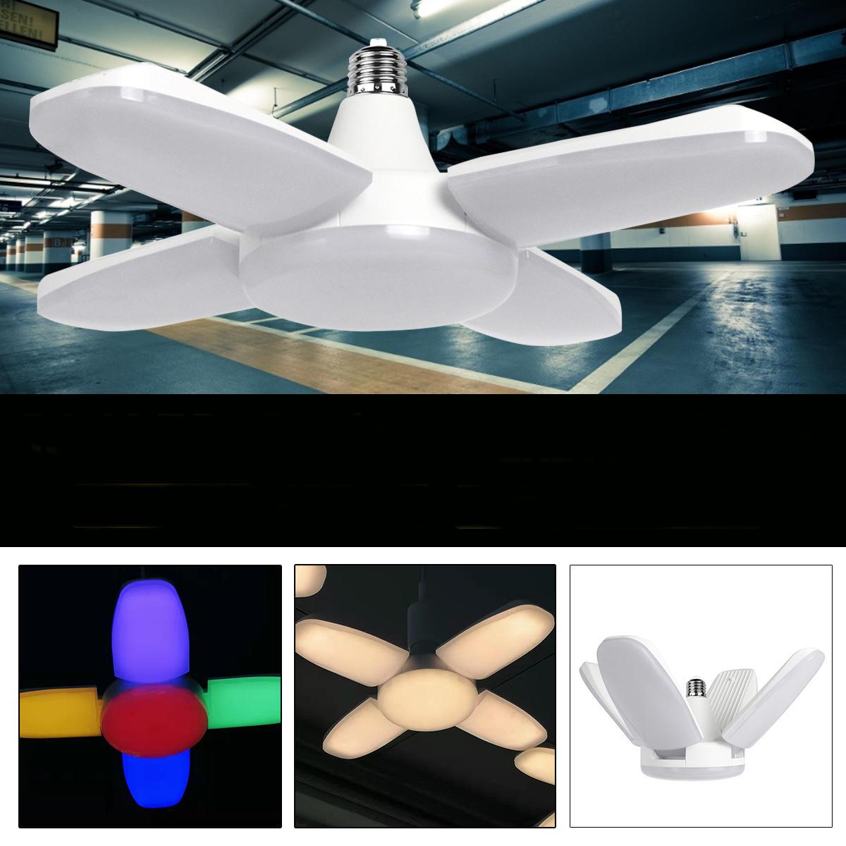 E27/E26 AC165V-265V Warm White Colorful 60W 2835 164LED Light Bulb Ceiling Fan Blade Deformable Garage Lamp