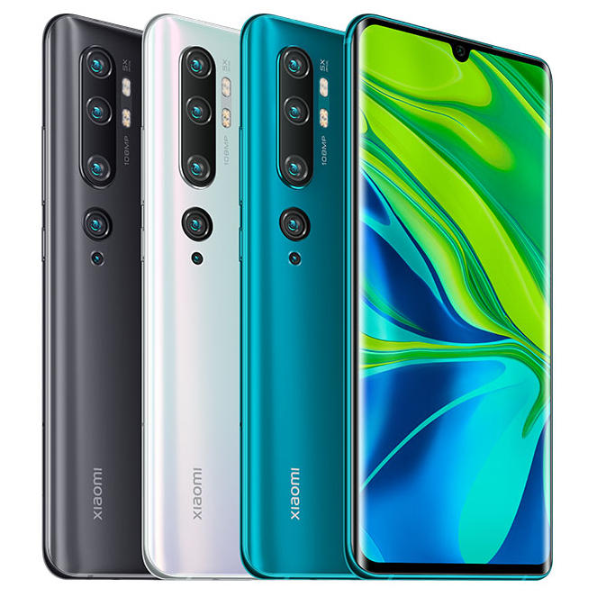 Xiaomi Mi Note 10 Pro Global Version 6.47 inch 3D Curved AMOLED 108MP Penta Camera 30W Fast Charging 8GB 256GB 4G Smartphone