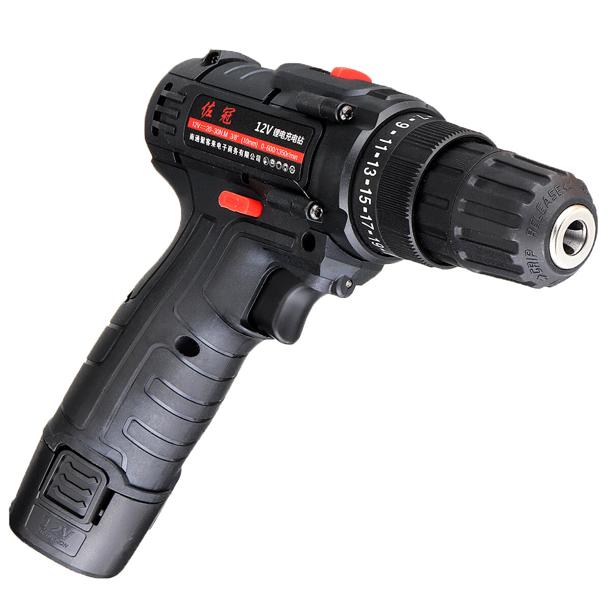 Shunzao 12V Cordless Multi-purposed 3 In 1 Imact Drill Driver Hammer 30Nm Electric Screwdriver Drill 2000mAh Li-ion Battery from xiaomi youpin - 5