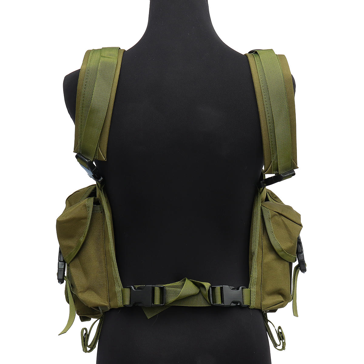 Chaleco táctico unisex al aire libre Combat Game Training Storage Carrier Belly Pocket Vest - 10