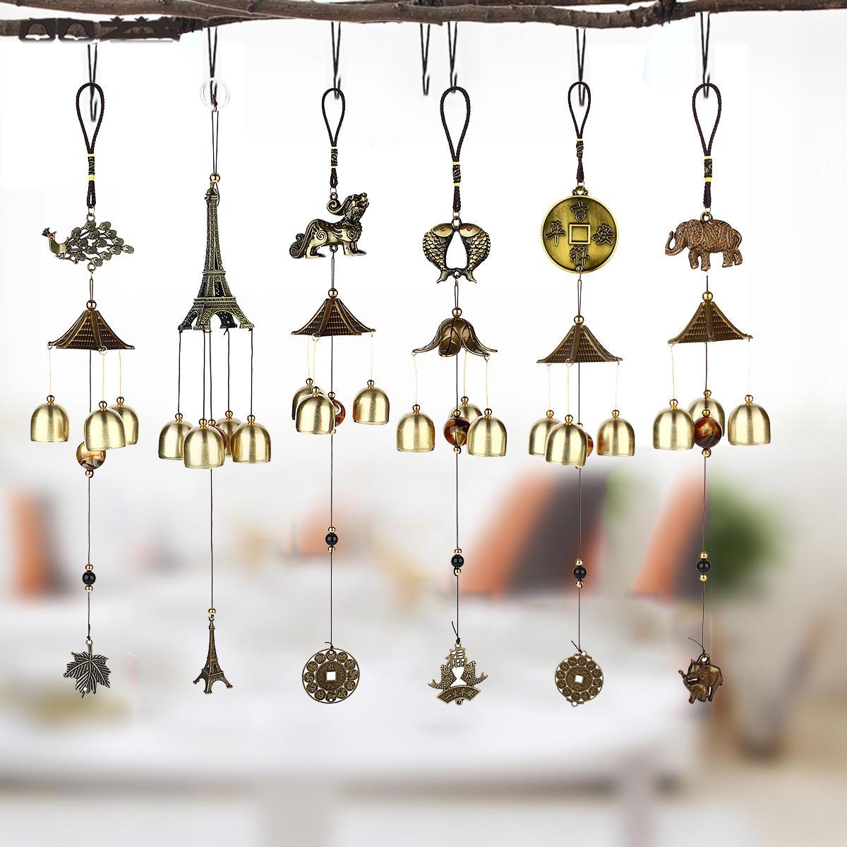 Windgong Bells Lucky Fish Elephant Garden Outdoor Windows Opknoping Ornament Decoraties - 4