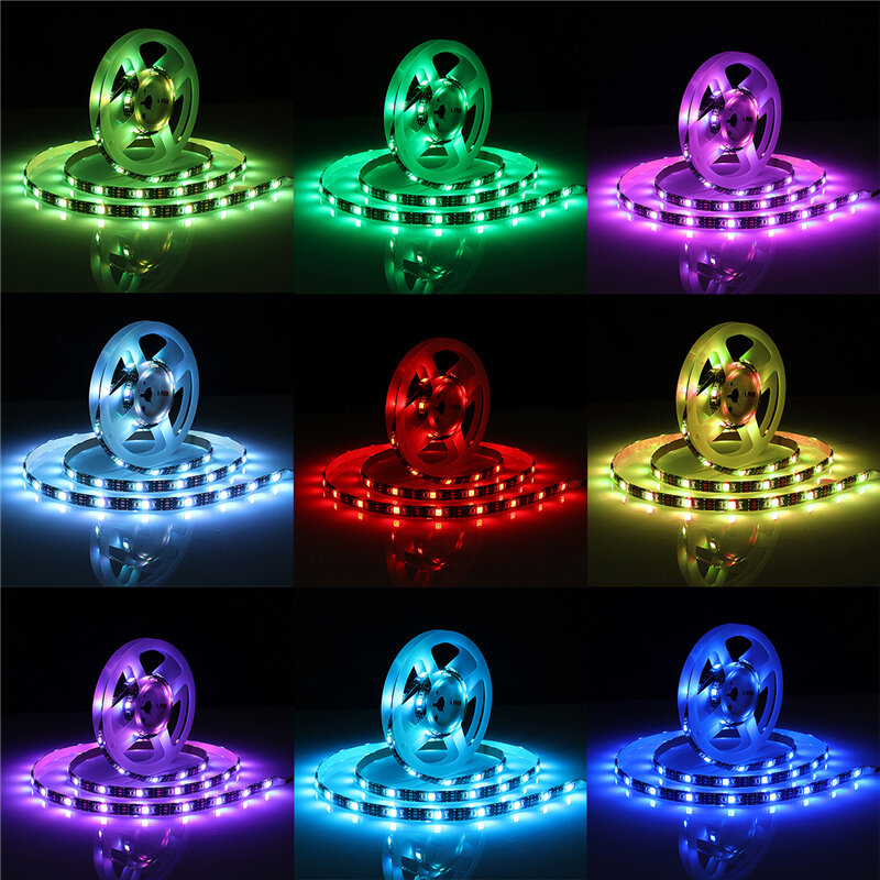 DC5V Non waterproof 0.5m 2m 3m 5m 5050 bluetooth APP Control RGB USB LED Strip Light KTV Hotel Home Decor - 8