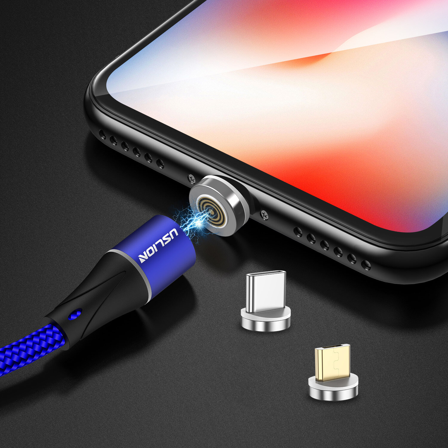 TOPK D-Line1 3A QC3.0 Voltage Current Display Type C Fast Charging Data Cable 1M For Phone Tablet - 3
