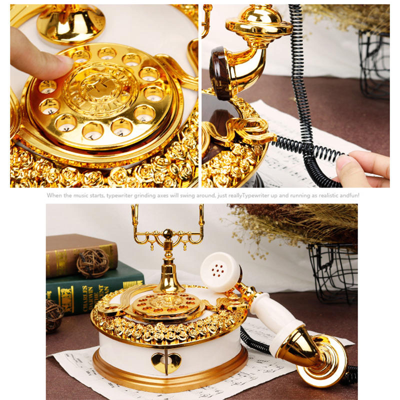 Treadle Sewing Machine Music Box Antique Gift Musical Education Toys Home Decor Fashion Accessories - 6
