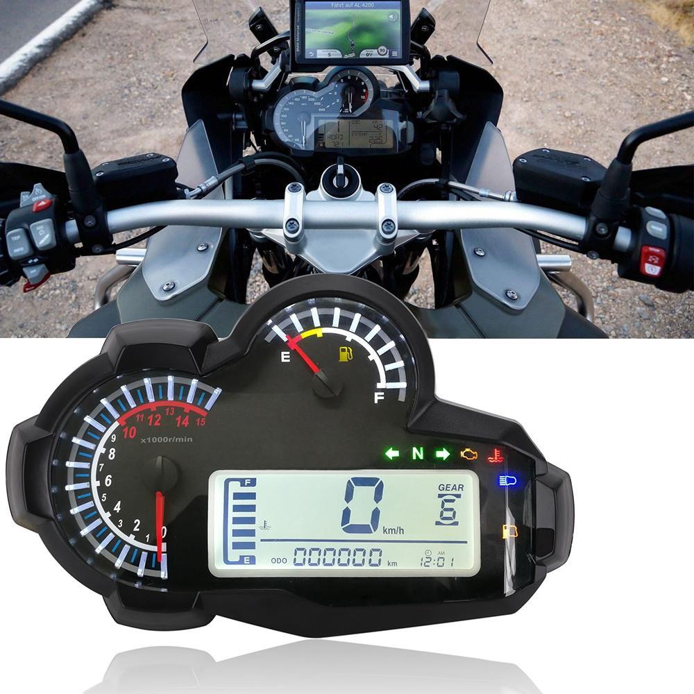 Motorcycle LED LCD Speedometer Digital Odometer Backlight Odometer For Cylinders