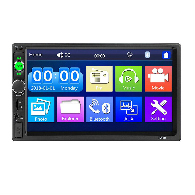 Upgraded 7010B 7 Inch Car Stereo Radio MP5 Player IPS Full View HD Touch Screen Support DSP bluetooth FM USB AUX