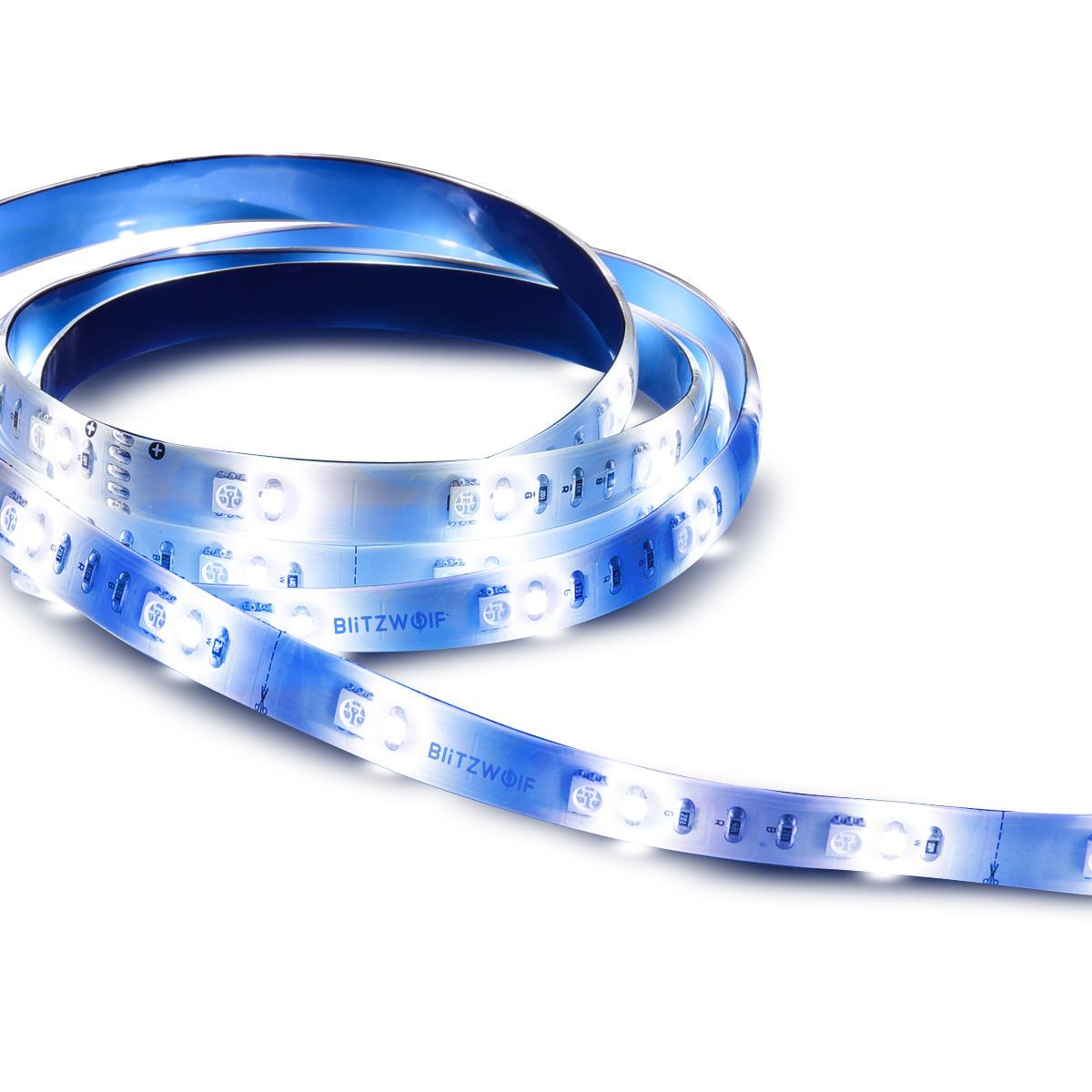BlitzWolf® 3PCS 1M RGBW LED Strip Light Extension Plus DC12V for BW-LT11 2M EU Plug LED Strip Light Set