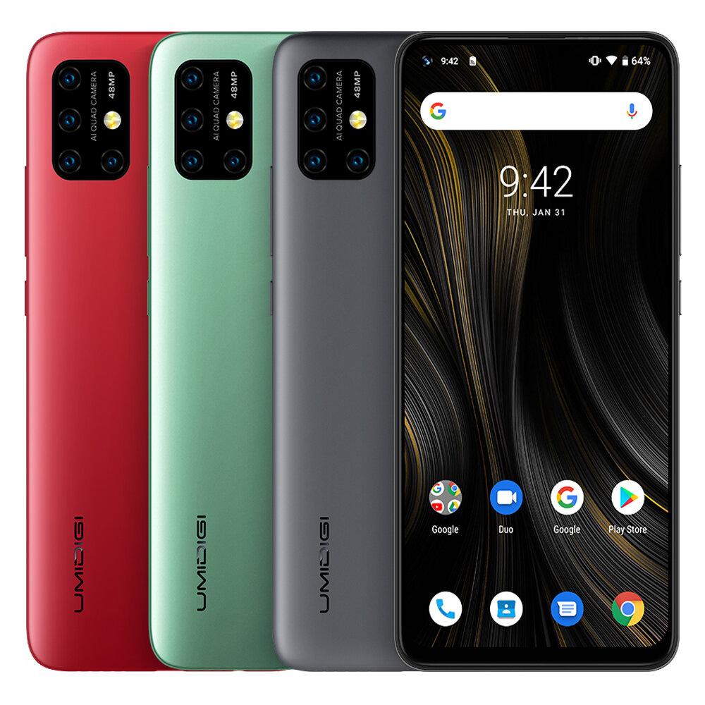 UMIDIGI Power 3 Global Pita 6.53 inci FHD + Tampilan Fullview Android 10 6150mAh NFC 48MP AI Quad Kamera 4GB RAM 64GB ROM Helio P60 Octa Core 2GHz 4G Smartphone