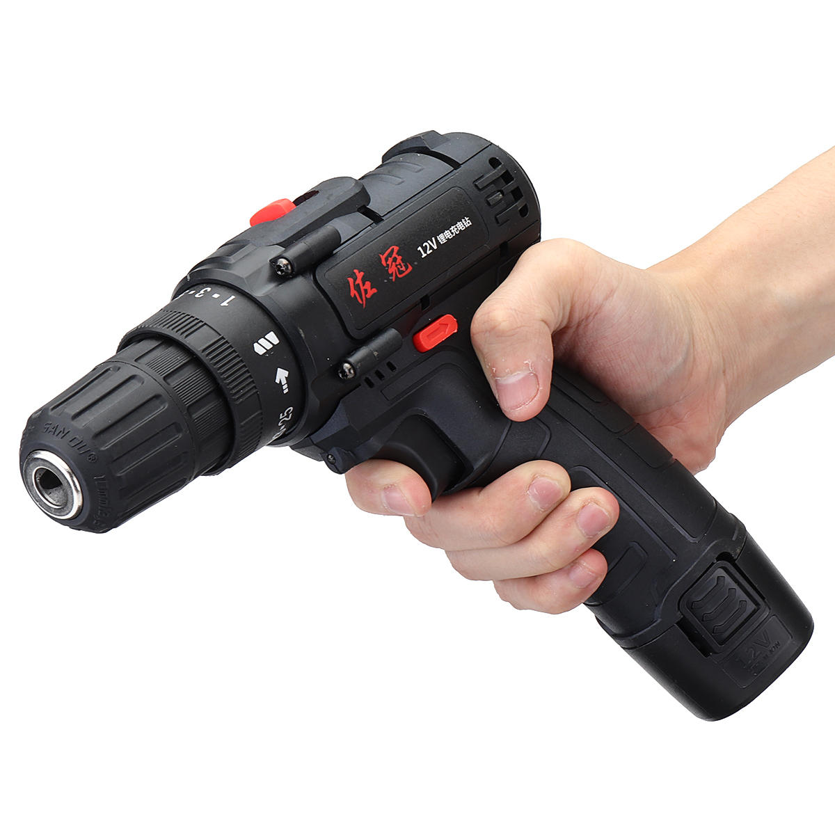 Shunzao 12V Cordless Multi-purposed 3 In 1 Imact Drill Driver Hammer 30Nm Electric Screwdriver Drill 2000mAh Li-ion Battery from xiaomi youpin - 3