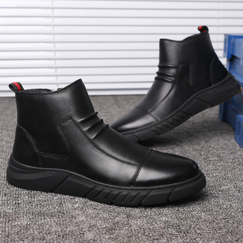 Menico Men Big Size Comfortable Stitching Ankle Boots - 5