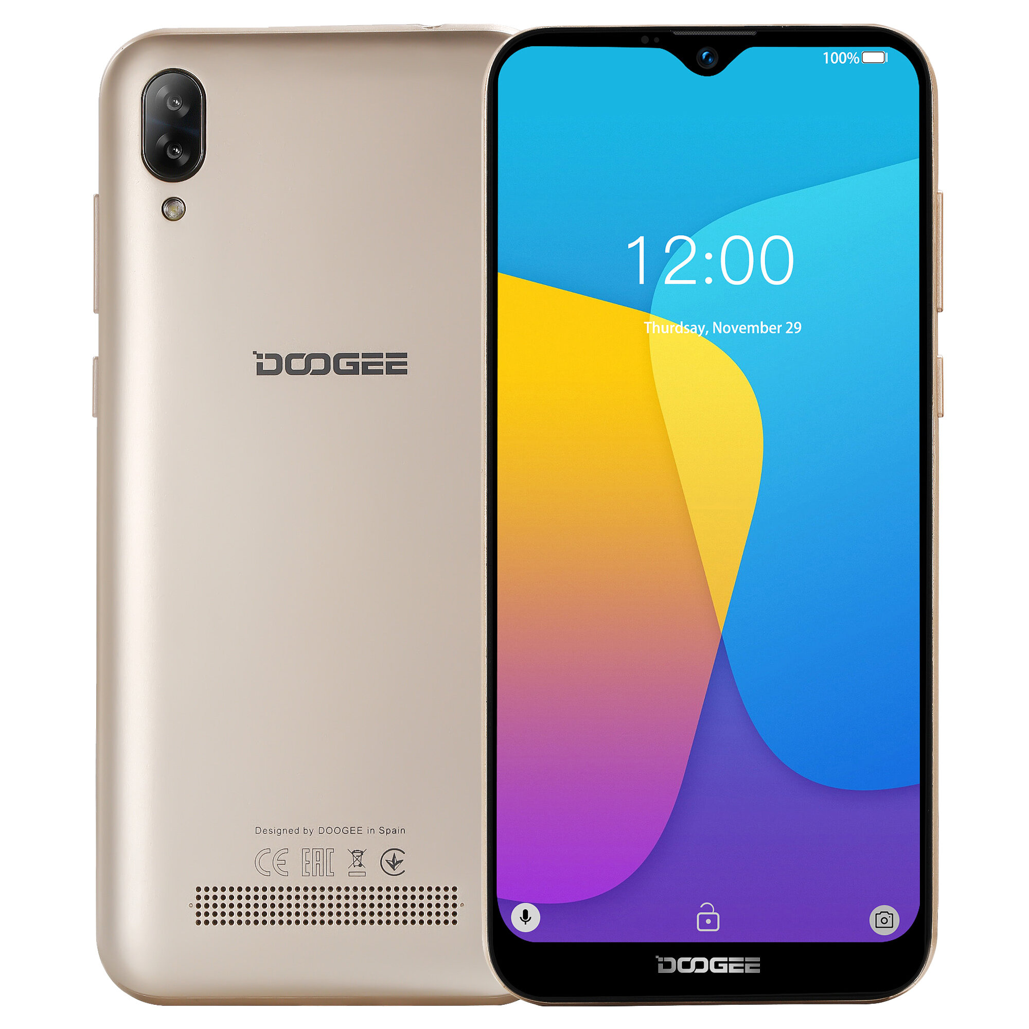 GOME U7 Global Rom 5.99 inch FHD+ NFC Iris Recognition 13MP Dual Front Camera 4GB 64GB Helio P25 4G Smartphone - 7