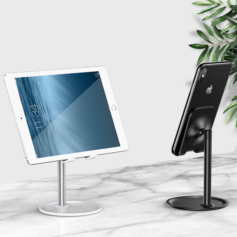 USAMS Aluminum Alloy Desktop Phone Holder Tablet Stand For Smart Phones Below 7.9 Inches iPad Mini iPhone XS Max