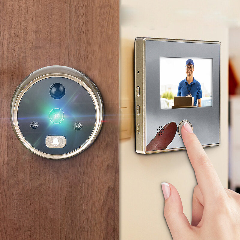 WiFi Video Doorbell 1080P 166° Wireless Video Smart Doorbell Security Home Door Bell Ring - 1