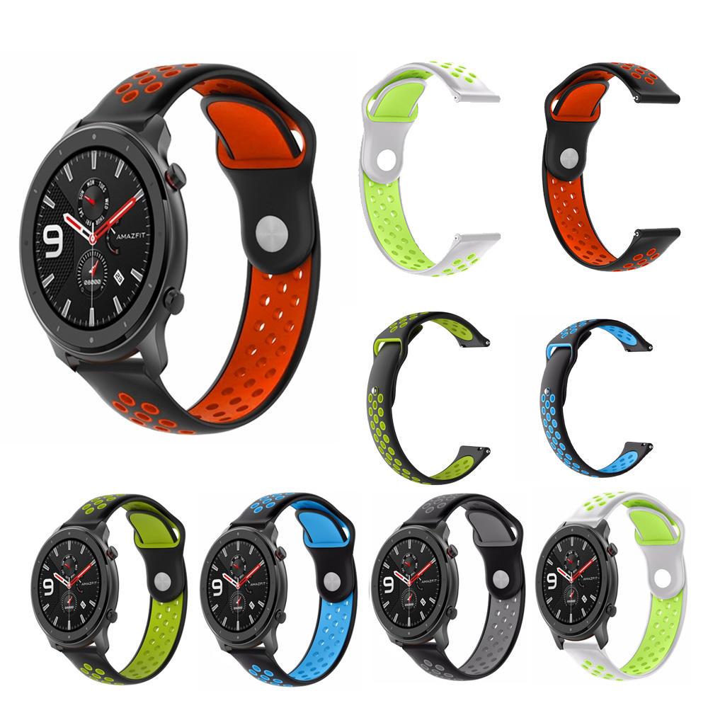 Penggantian Gelang Watch Strap Warna Ganda untuk 479 Amazfit GTR Smart Watch