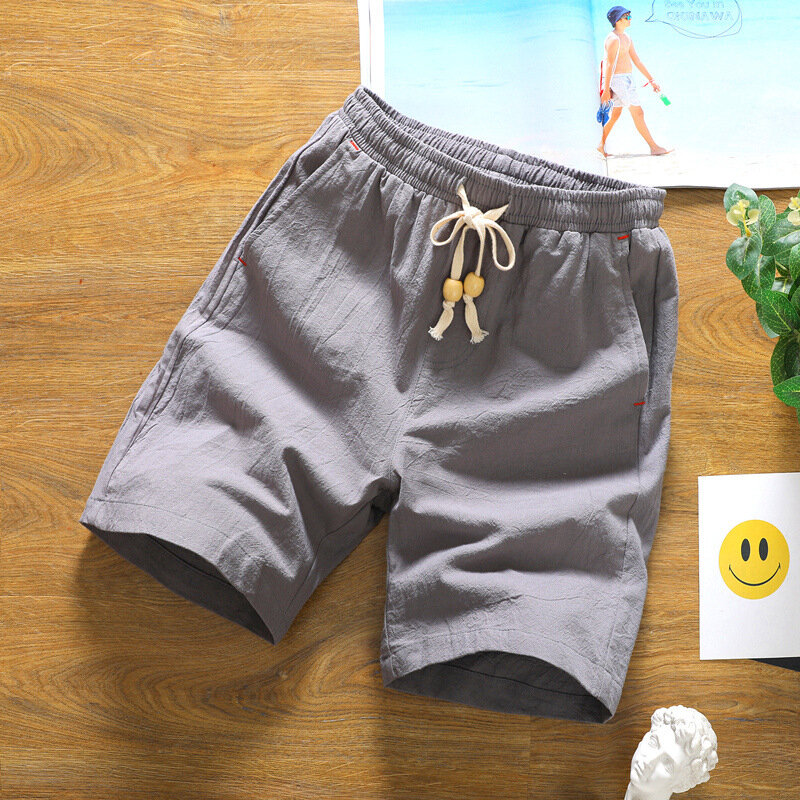 Mens Summer Fashion Breathable Solid Color Casual Shorts - 2