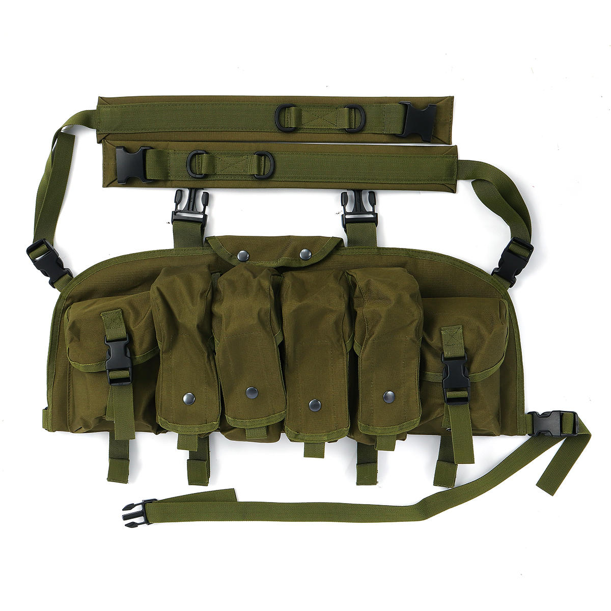 Chaleco táctico unisex al aire libre Combat Game Training Storage Carrier Belly Pocket Vest - 3