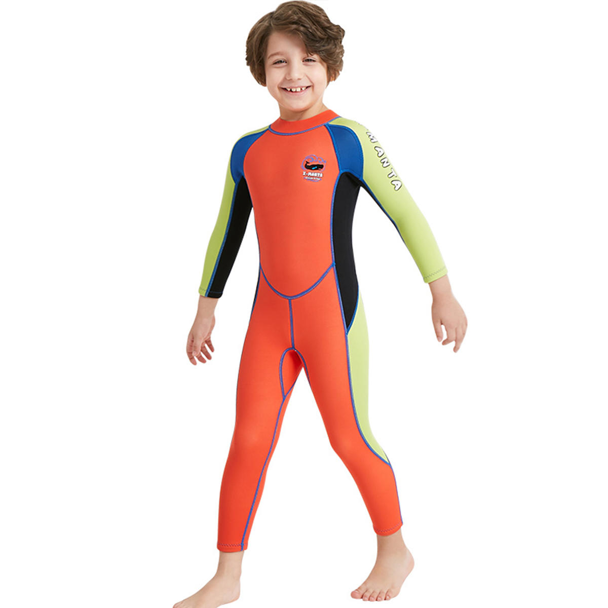 Kids Boy Scuba One-piece Diving Suit UV Protection Thermal Snorkeling Wetsuit Surfing Swimwear - 5