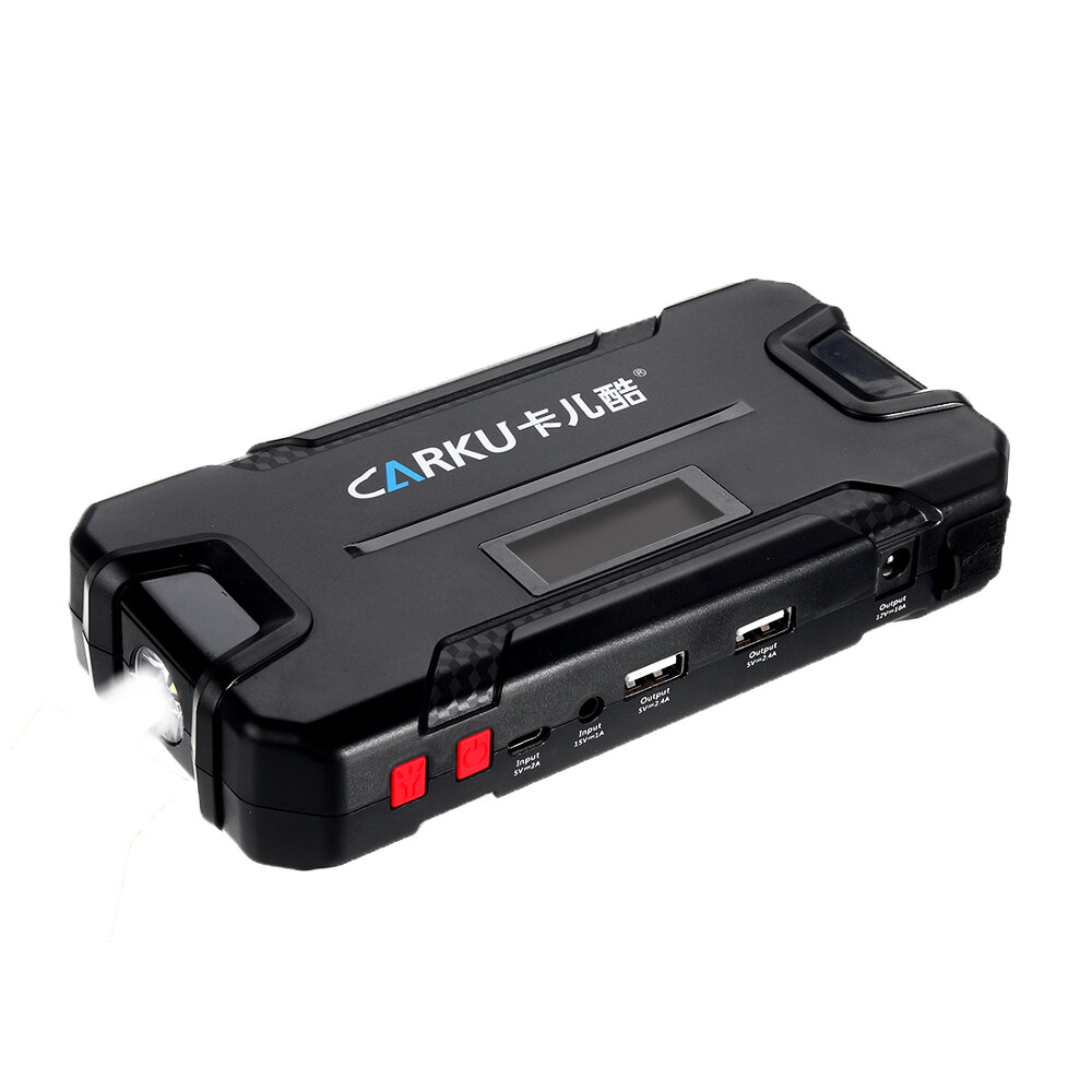 CARKU 64B Portable Car Jump Starter 12V 12000mAh Emergency Battery Booster with QC 3.0 LED FlashLight from Xiaomi Youpin