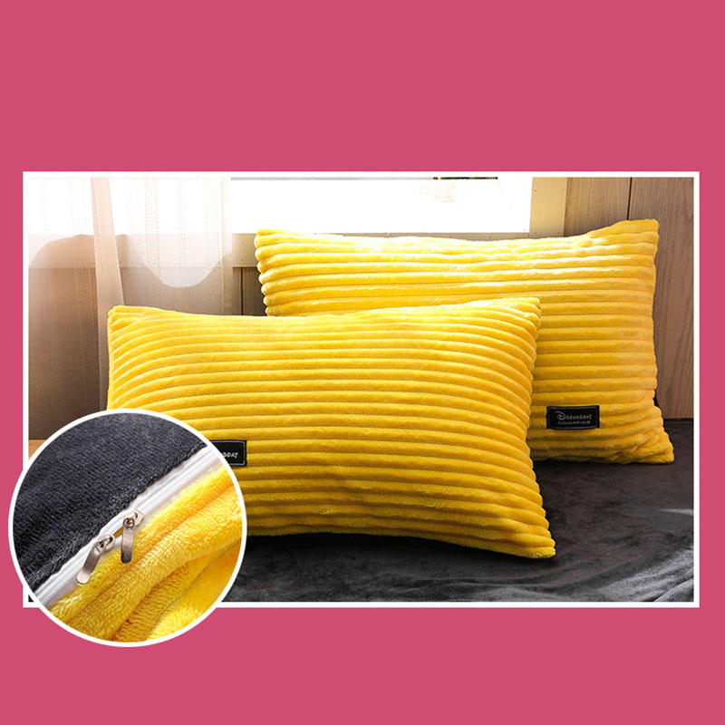3 PCS Bedding Sets Solid Color With Embroidery Quilt Cover Pillowcase For Double Bed Size - 7