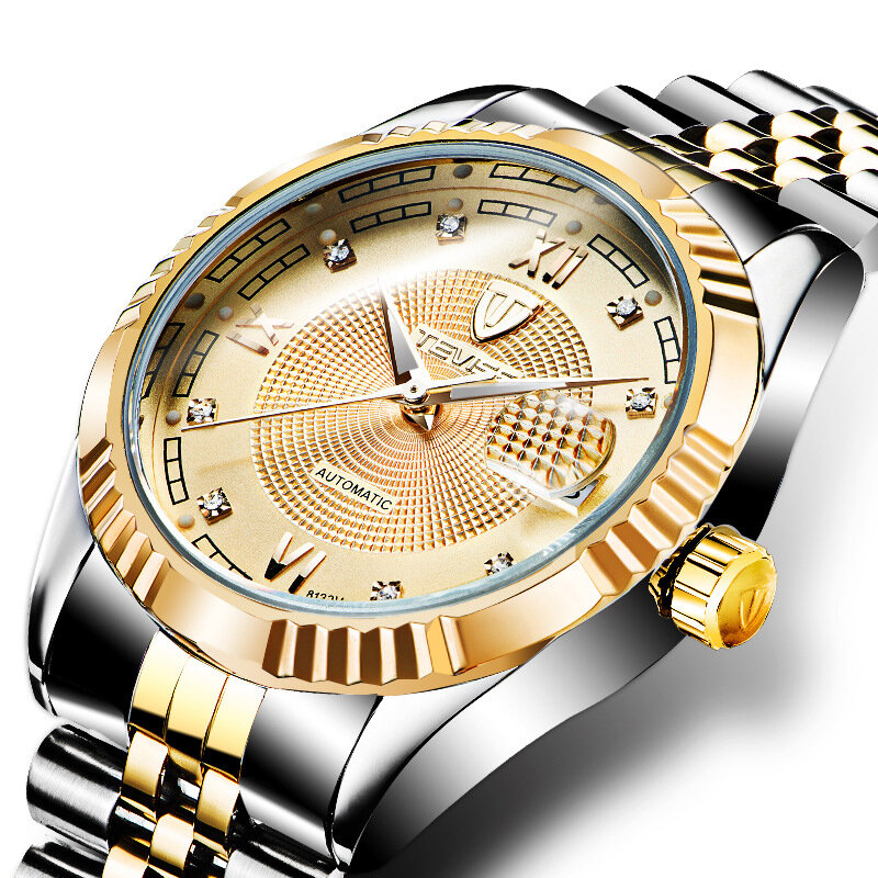 TEVISE 629 Business Style Automatic Mechanical Watch Waterproof Luminous Display Men Watch