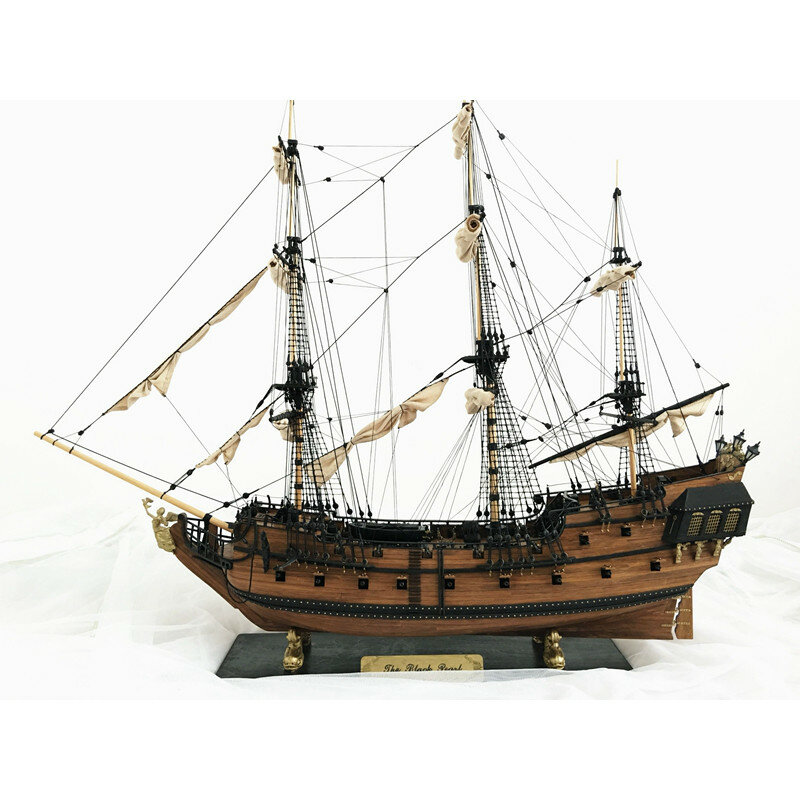 32 Inch Ship Assembly Model DIY Kits Wooden Sailing Boats Decoration Toy DIY Gift