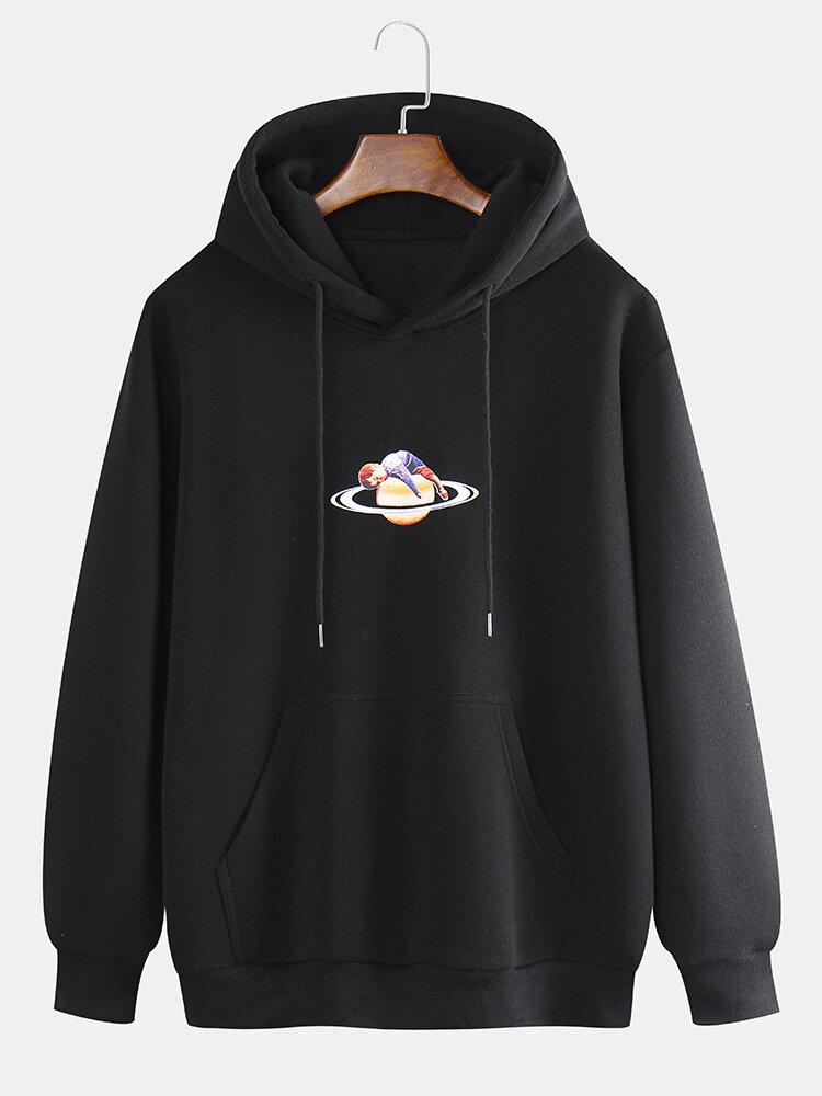 Mens Loose Fashion New Casual Star Print Sweatshirt - 1