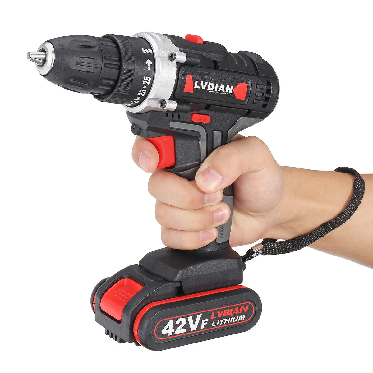 42VF Li-Ion Battery Cordless Rechargeable Electric Impact Drill Driver Screwdriver LED Light - 12