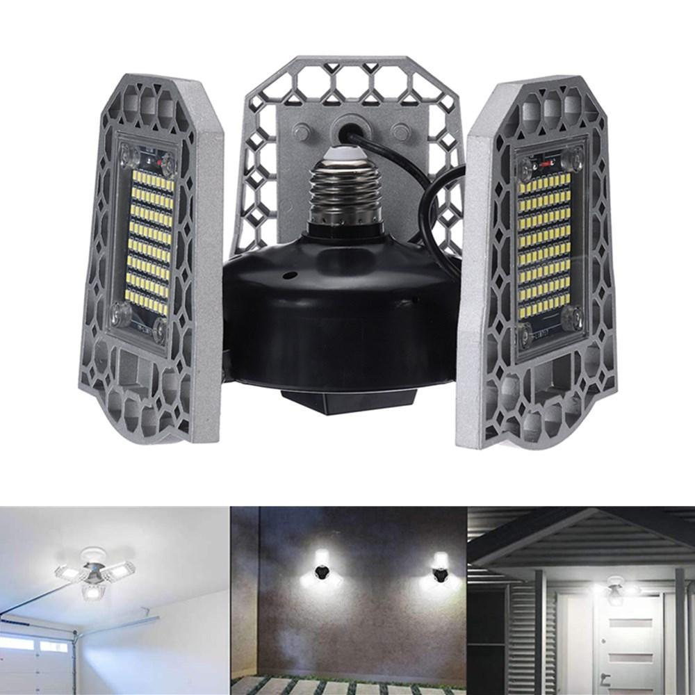 AC100-270V E27 55W 6500K 540LED Garage Light Bulb IP65 Deformable Foldable Shop Lamp - 1